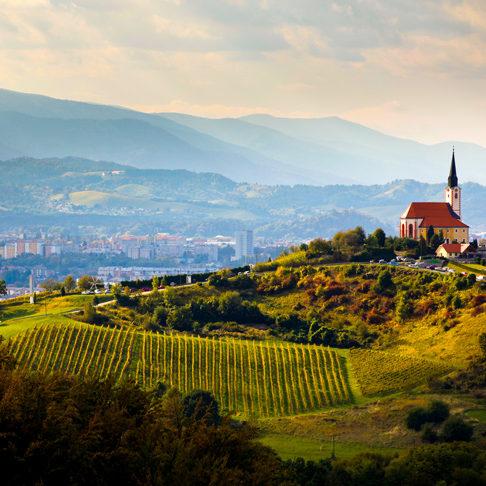 wijnheuvels vlakbij Maribor stad; bron Maribor Tourist Board